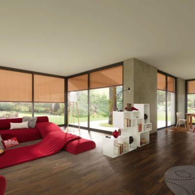 Fenster Markise in einem Wohnzimmer